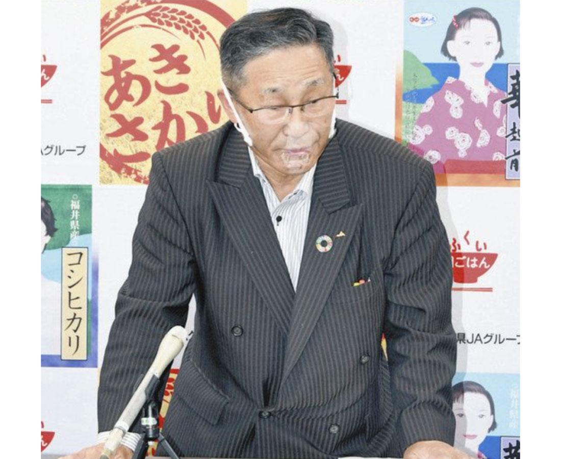 21年産米の生産量大幅減 「転作にも限界」JA県5連会長が訴え