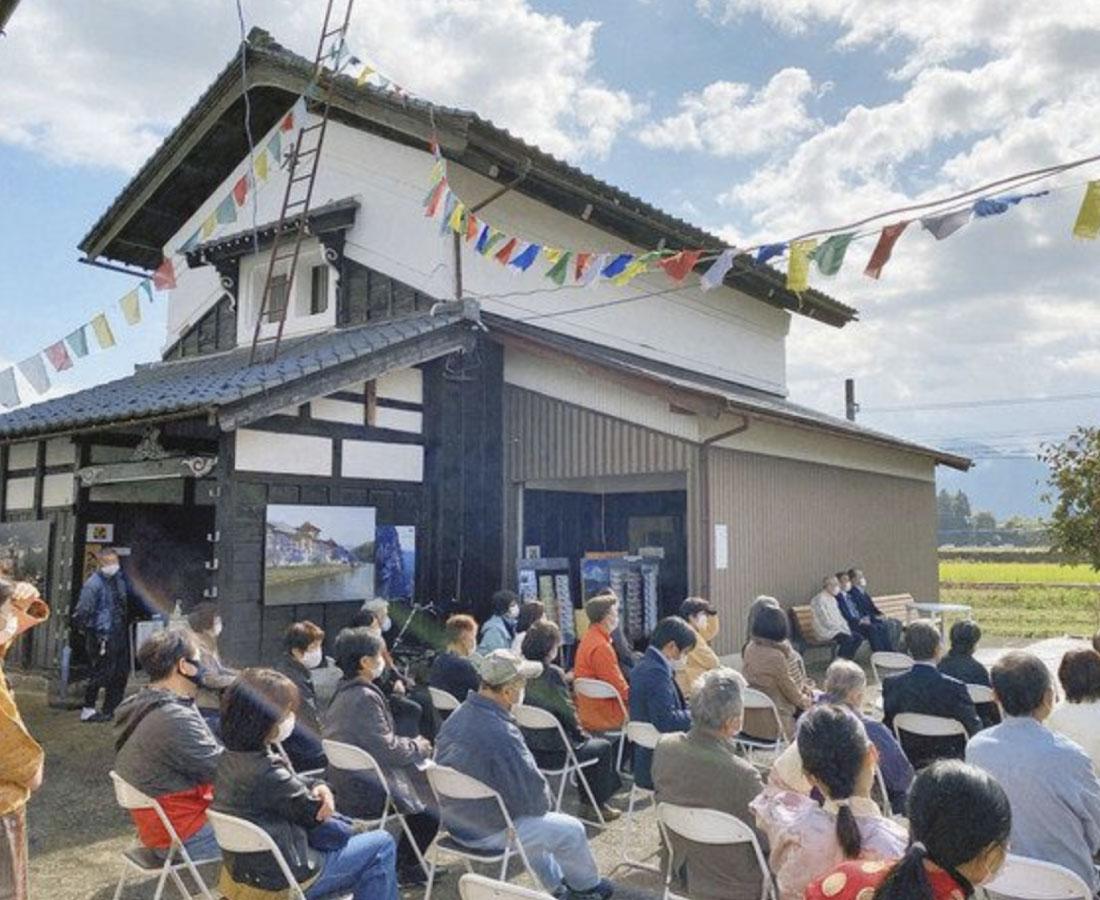 土蔵のブータンミュージアム 勝山に移転オープン祝う