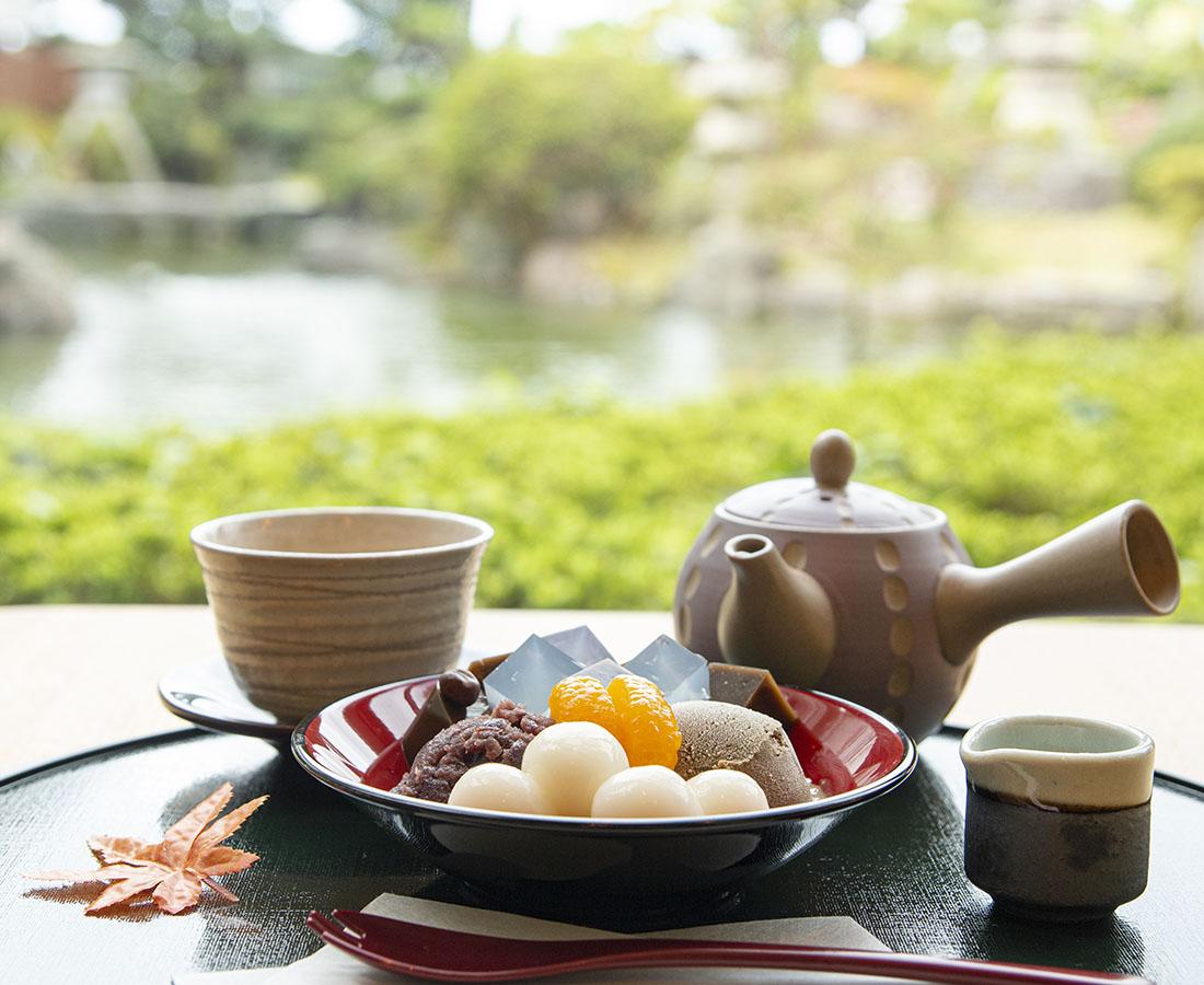 【Open】お抹茶に甘味、日本庭園も。あわら温泉の旅館内に、人気茶房の姉妹店が誕生!