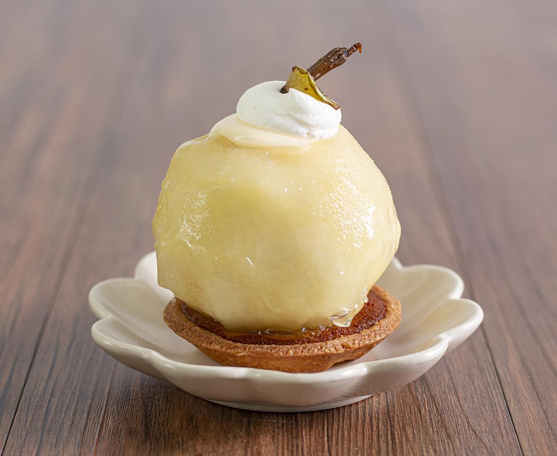 今日のおやつは、福寿堂のうわさの梨の助♪