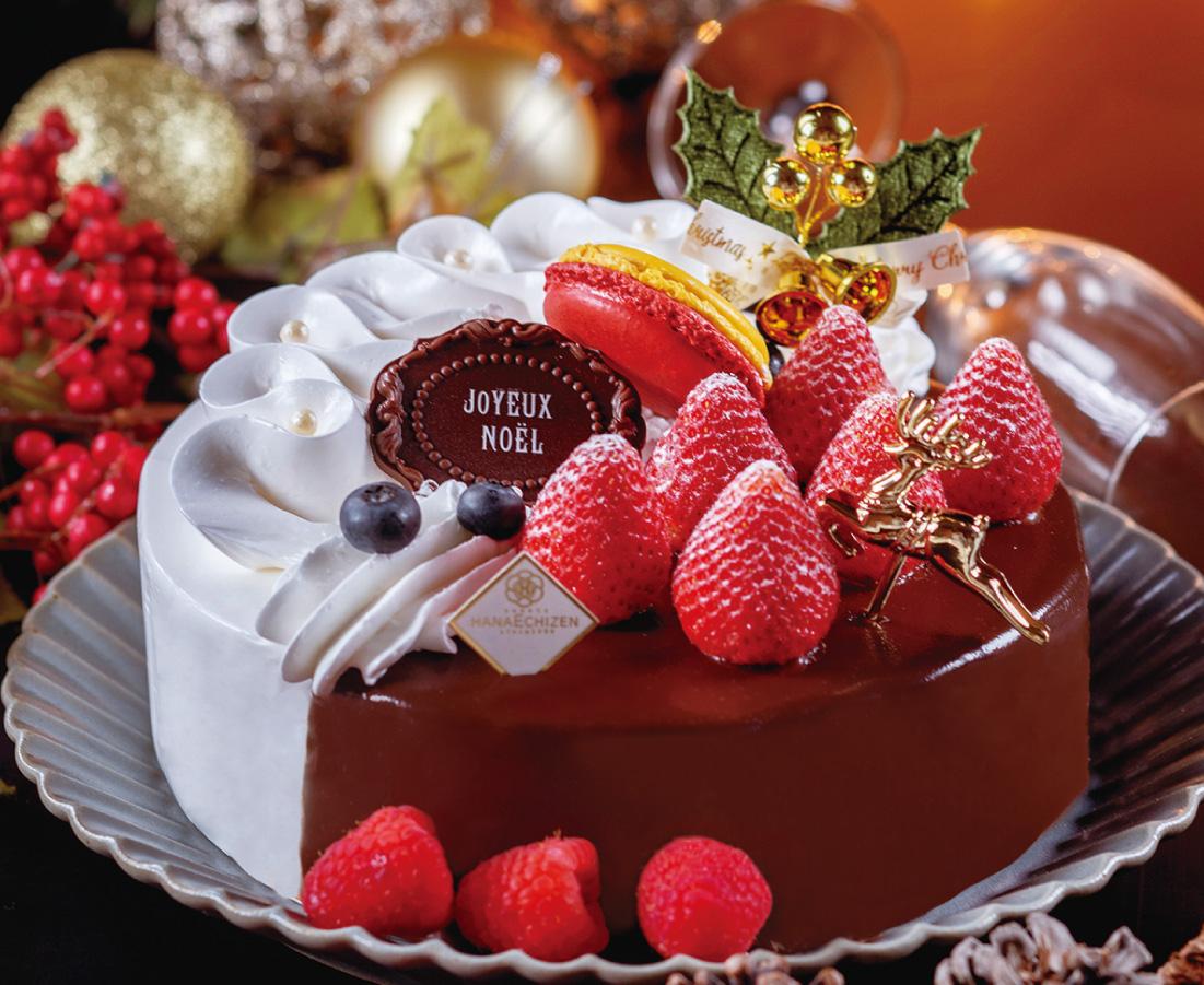 聖なる夜は贅沢に! チョコと生クリーム、2つの味が楽しめる人気のクリスマスケーキ|花えちぜん