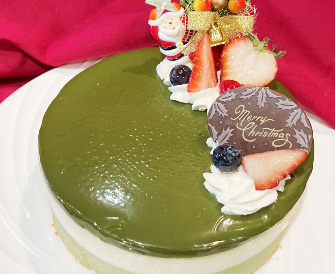 クリスマスケーキ第三弾! 抹茶尽くしのレアチーズケーキ|Veg.terrace(ベジテラス)