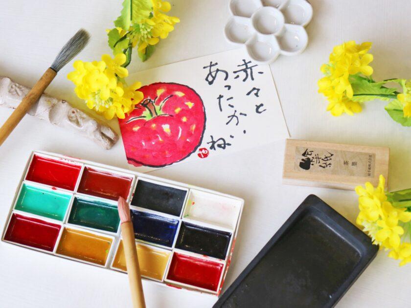 春の絵手紙教室