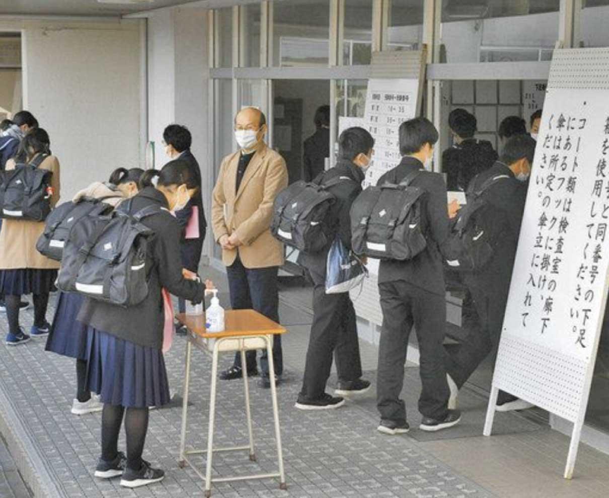 県立高入試 3987人挑む 検温などコロナ対策徹底