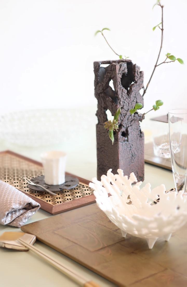 鯖江市まなべの館企画展「花×うつわ×暮らし ‐テーブルをデザインする」