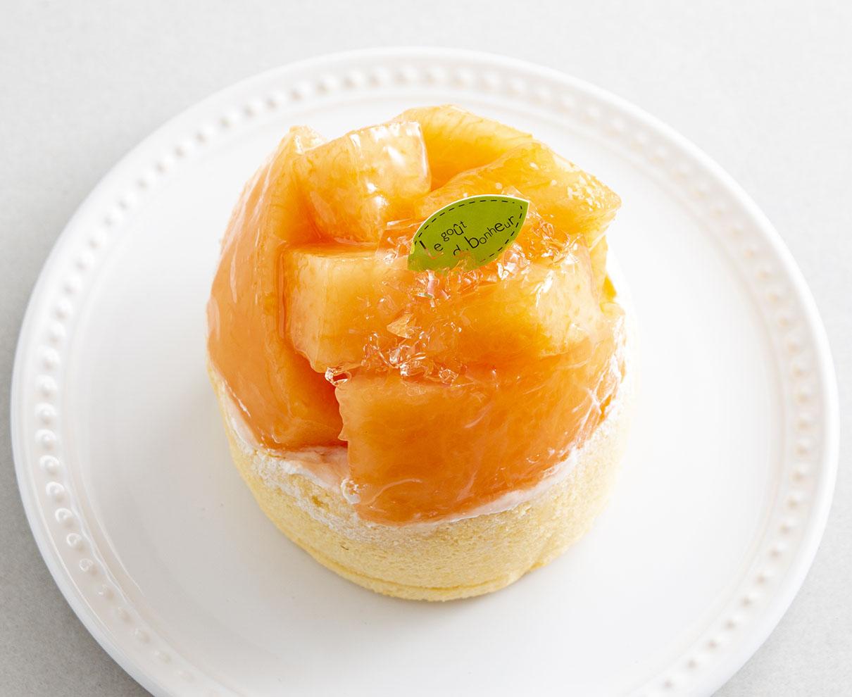今日のおやつは、洋菓子JUNの食べごろメロン♪