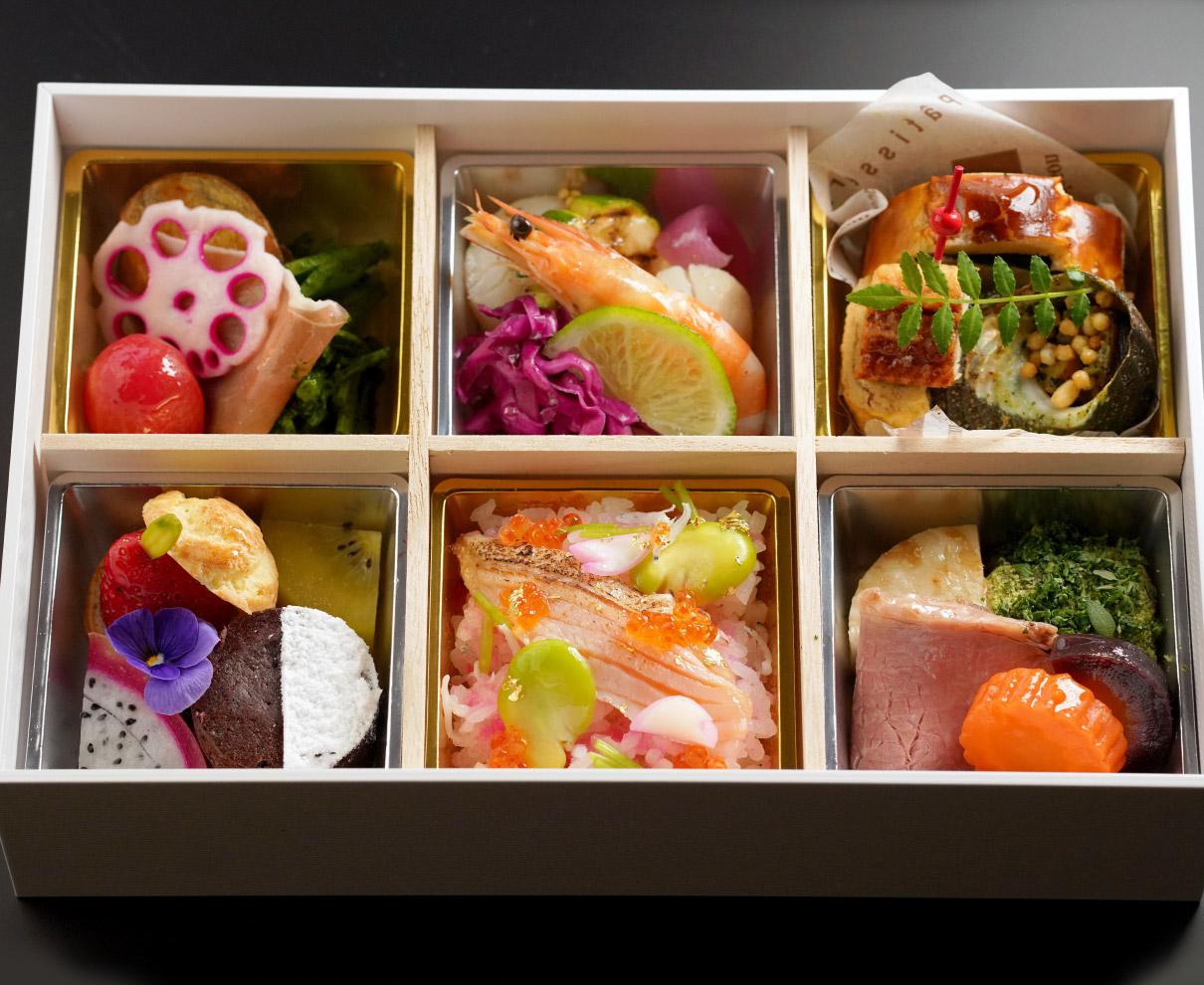 桜ばしの和フレンチ弁当でフルコースを!|ホテルリバージュアケボノ