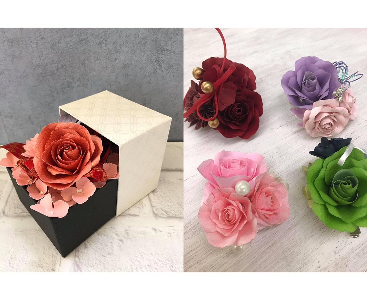 【6/20】越前和紙のお花で、オリジナルの「フラワーBOX」や「コサージュ」を作ろう♪