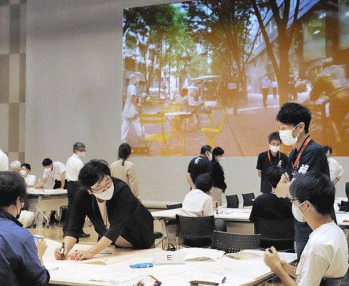 朝、昼、夜に飲食空間 福井市、来月「ほこみち」 社会実験