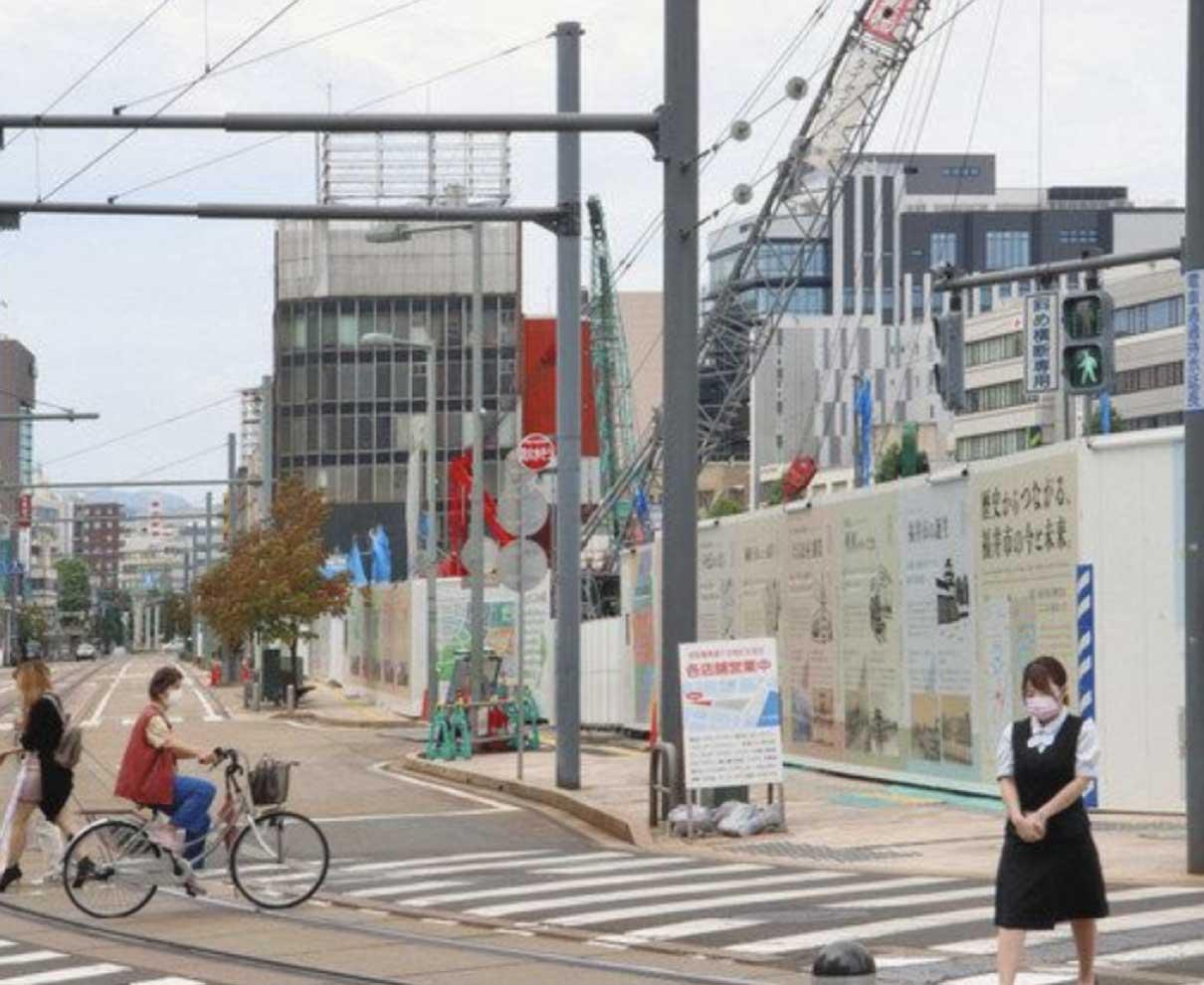 ホテル棟 来月15日着工 福井駅西口「三角地帯」A街区
