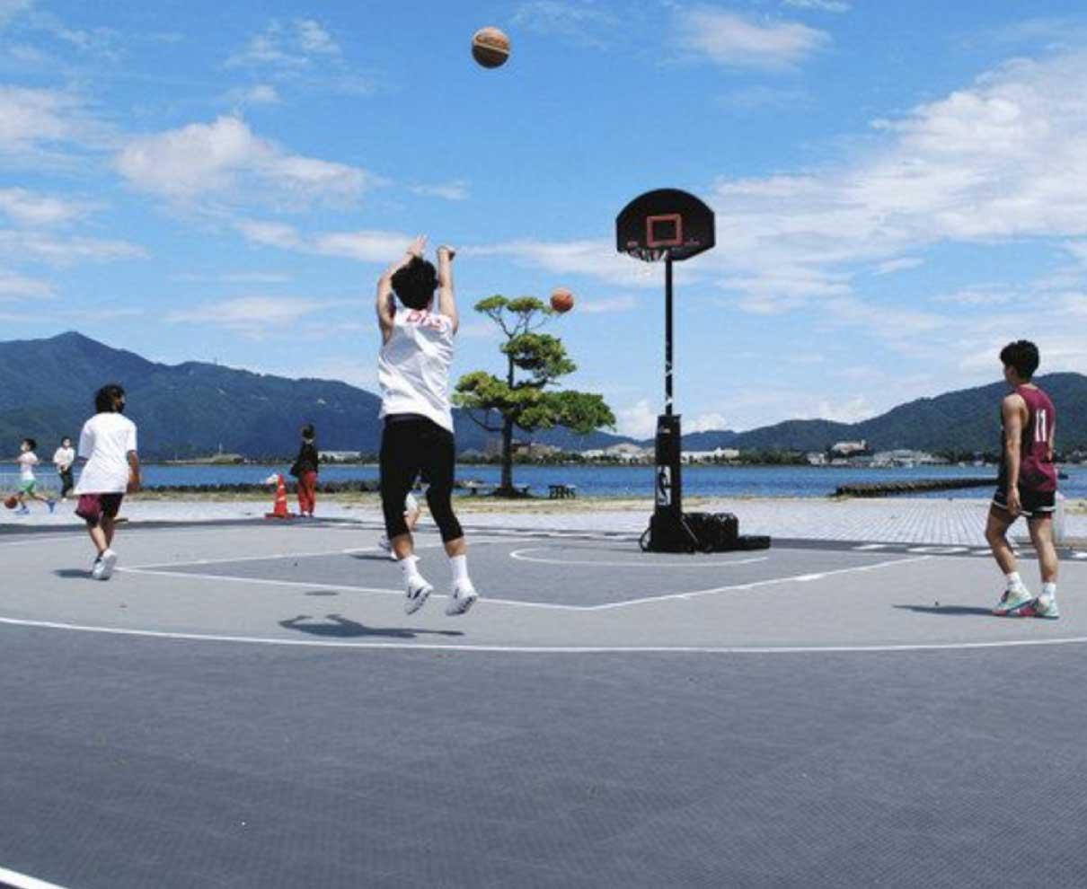 3人制バスケ大会 あす開幕 名称「サンサン・カップ」