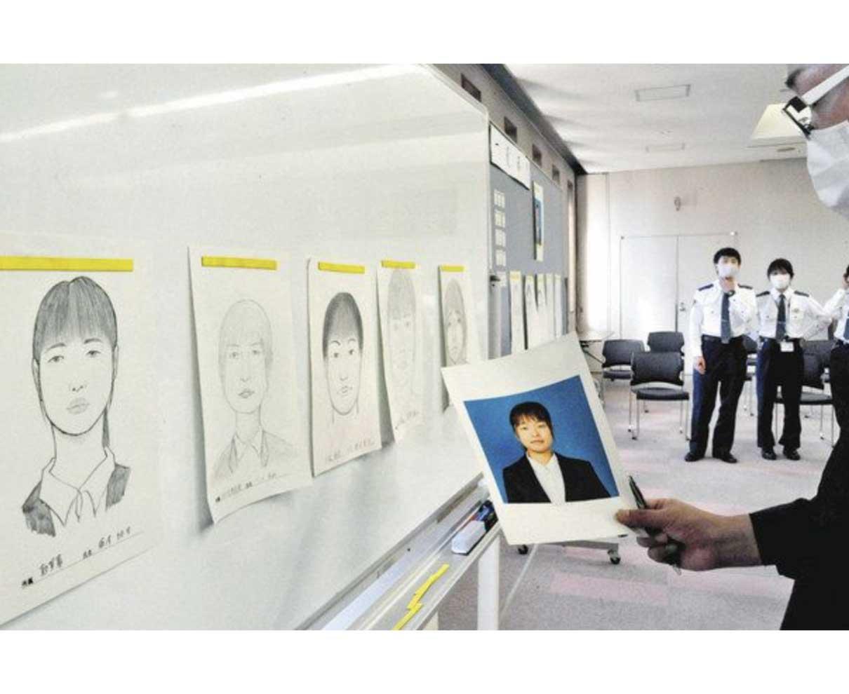 犯人役 顔の特徴捉えた 県警初の似顔絵競技会