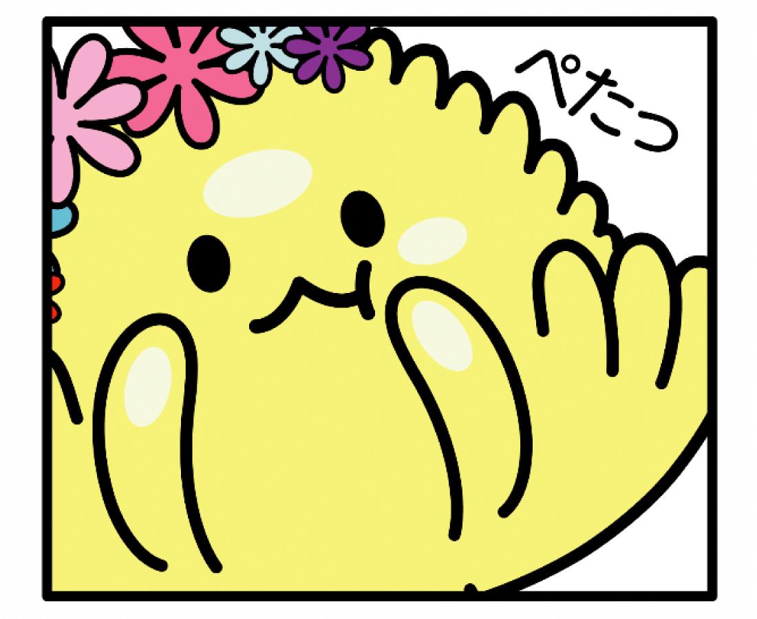 たけふ菊人形のマスコット「きくりん」がゆるかわいいLINEスタンプになりました!